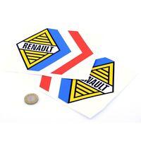 Renault Alpine Tricola Stickers Car Vinyl Decals 150mm x2 Gordini Competition