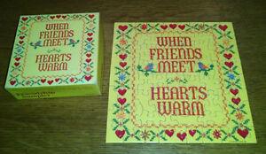 Springbok Hallmark Mini Puzzle FRIENDSHIP SAMPLER When Friends Meet Hearts Warm