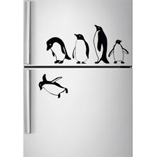 Penguins fridge stickers jumping flying funny Vinyl Decor Decal Mural KItchen