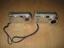 Lot of 2 Sony Cyber-shot 3.2 MP Digital Camera DSC-P72 & DSC-P52