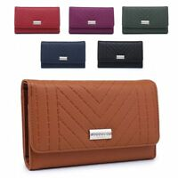 Ladies Quilted Faux Leather Purse Girls Fashion Wallet Handbag Clutch M04A-357