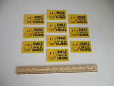 10 Smile You're On Camera Video Surveillance Window Decals Stickers -Stock # 721