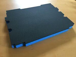 Koffereinlage Hart-Schaumstoff f. Tanos FESTOOL Classic systainer grau-blau 30mm