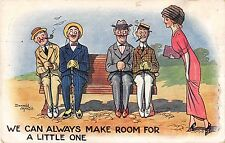 POSTCARD   COMIC  DONALD  McGILL   Young  lady  Making  Room