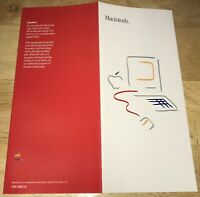 1984 Macintosh 128K Model M0001 RARE Picasso Packing List Fold-Out Brochure NICE