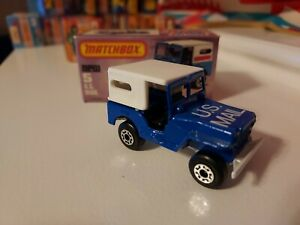 1976 Matchbox - US Mail Jeep #5 (Sleet N Snow #II) Superfast - Original