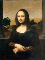 DOLLHOUSE MINIATURE FRAMEDRepro MASTERPIECE PORTRAIT Mona Lisa-Leonardo da Vinci