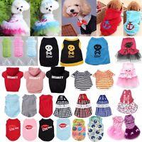 Pet Clothes Puppy Dog Cat Vest Dress T Shirt Coat Sweater Jacket Spring Apparel