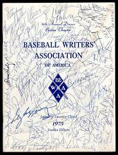 Autographed 1975 Boston Baseball Writers Association of America Program Ford