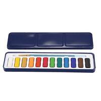 12 Couleurs Portable BoîTe D'éTain Solide Aquarelle Peintures Ensemble pour GBN