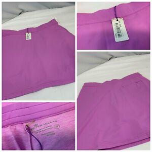 Peter Millar Golf Yoga Skort M Pink Poly Lined SPF NWT $90 YGI D1-116