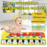 70CM Music Modes Kids Touch Animal Piano Toy Singing Crawling Mat Blanket Rug
