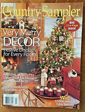 Country Sampler Magazine 2008 Christmas Holiday Decorating Santa Ornaments