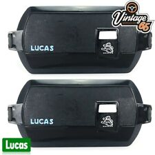 Classic Car Genuine Lucas Square 8 LR8 FT8 New Front Chrome Spot Light Covers