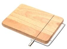 New Natural and Brown Wooden Butcher Block Cheese Slicer With Steel Cutting Wire