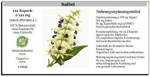 Salbei Kapseln (salvia officinalis L.)