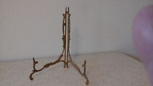 Victorian Ornate Brass LARGE Folding Easel Stand for Plates- Books- Pictures