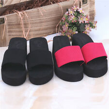 Summer Soft Women Wedge Sandals Thong Flip Flops Flat Platform Beach Slippers