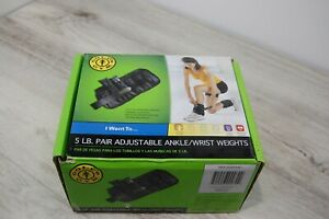 Gold's Gym 5 LB Pair Adjustable Ankle / Wrist Weights