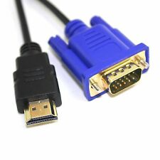 6FT VGA HD-15pin Male M/M Gold Male to HDTV HDMI Cable 1080P 1.8M For PC TV New