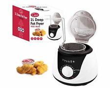 1L DEEP FAT FRYER 900W ELECTRIC DEEP FAT FISH CHIPS FRYER NON STICK SAFE BASKET