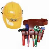 Kinder Kunststoff Konstruktion Helm Spielzeug Harte Hut Bauarbeiter Tools Gürtel