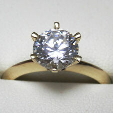 Simulated Diamond 14k Engagement & Wedding Ring Sets