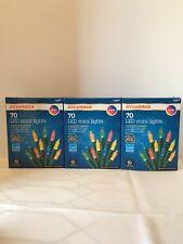 Set of 3 NIB Sylvania 70 LED Mini Color Lights 883624108624