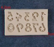 Silikonform 7x4,2 mm Mold Handwerk Resin Zahlen Abformen Gießen -2951