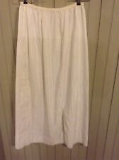Vintage Sears Formal white large long 1/2 slip with lace hem