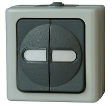 Kopp Blue Elektric IP44 Feuchtraum Steckdose Schalter AP Abschlie�Ÿbar  Taster
