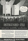 1934 General Electric Refrigerator advertisement, MONITOR-TOP & flat top fridge photo