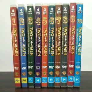 TWO AND A HALF MEN -DVD SEASONS 1-10  Region 4 VGC