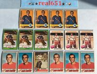 1972~1977 Topps O-Pee-Chee ED GIACOMIN Goalie Lot x 16 Vintage | Rangers HOF
