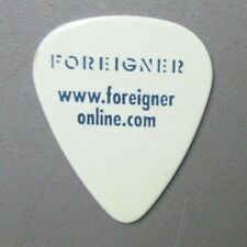 Foreigner guitar pick Touring Pick Tommy signature blue on white Authentic !