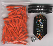 """The Harley Flame"" Soft Tip Dart Upgrade Kit: Orange Tips, Black Shafts & More"