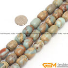 """Natural Shoushan Stone Column Tube Beads For Jewelry Making 15"""" 8x12mm 10x14mm"""
