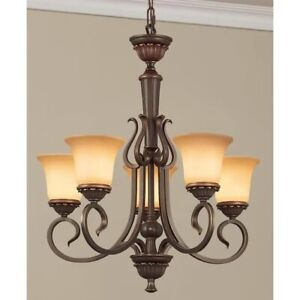 Colton Lakes 5-Light Oil-Rubbed Bronze Transitional Chandelier