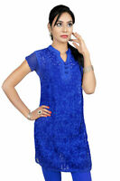 ACC_Latest Design Georgette Lucknowi Hand Embroided Kurti Tunic Top for ladies