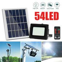 54LED Solarleuchte Solarlampe Flutlicht Außenlampe Straßenlaterne  3