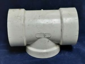 """GSR 4"""" T CONNECTING PIPE, PVC MATERIAL, #8 THREAD PITCH D2665-2117"""