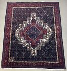 """1940s Oriental Hand Knotted Wool On Cotton Foundation(abt 140 kpsi) 6'4""""x4'11"""""""