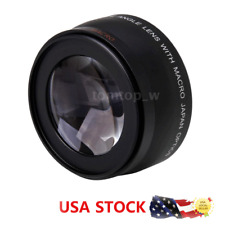 52MM 0.45x Wide Angle Lens +Macro for Nikon Sony Canon Pentax DSLR Camera Black