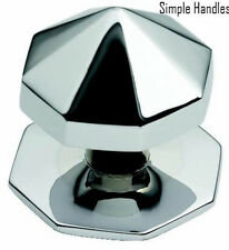 CENTER CENTRE OCTAGONAL POINTED DOOR KNOB PULL HANDLE CHROME