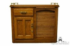 """RICHARDSON BROTHERS Solid Oak Country French 39"""" Bar Cabinet / Server Buffet"""