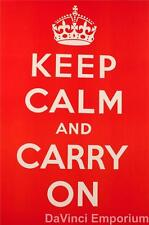 Keep Calm And Carry On Fine Art Poster Lithograph S2
