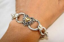 New Brighton Two Tone Silver Heart Altered Bracelet