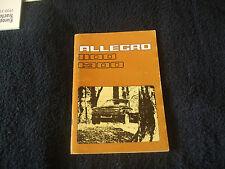 Austin Allegro 1100- 1300 Owners Handbook