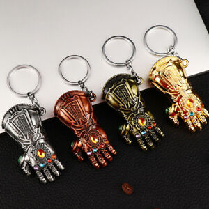 New Thanos Keyring Avengers 3 Infinity War Gauntlet Glove Fist Keychain Pendant