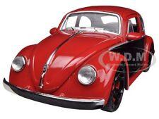 1959 Volkswagen Beetle Red / Black 1/24 Diecast Car Model By Jada 91697
